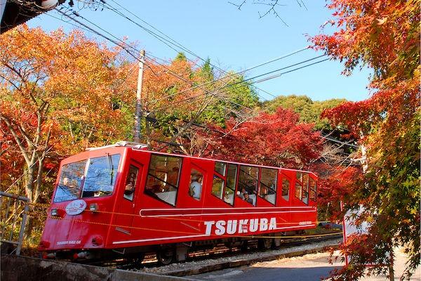 「筑波山のケーブルカー