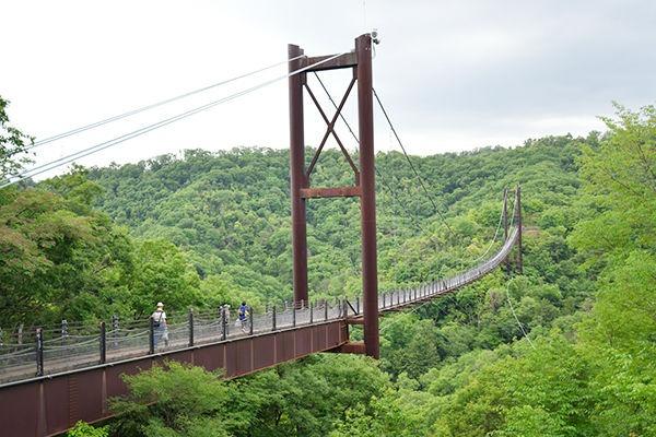 日本最大級の木床橋