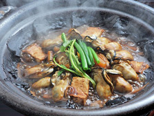 牡蠣の土手鍋